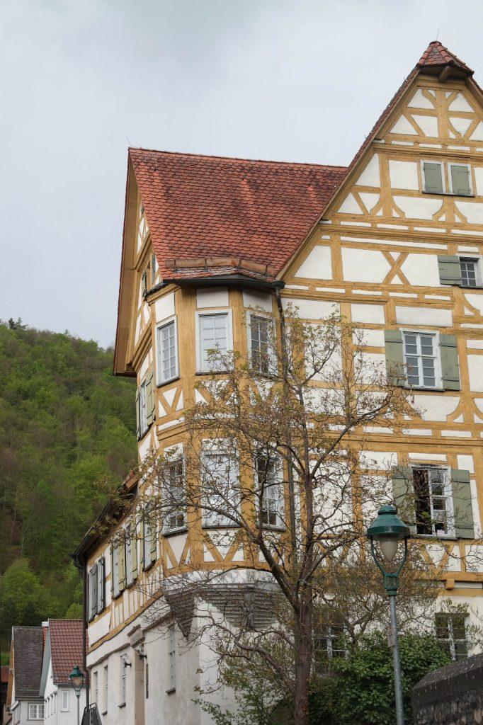 Vakwerk in Blaubeuren in Duitsland