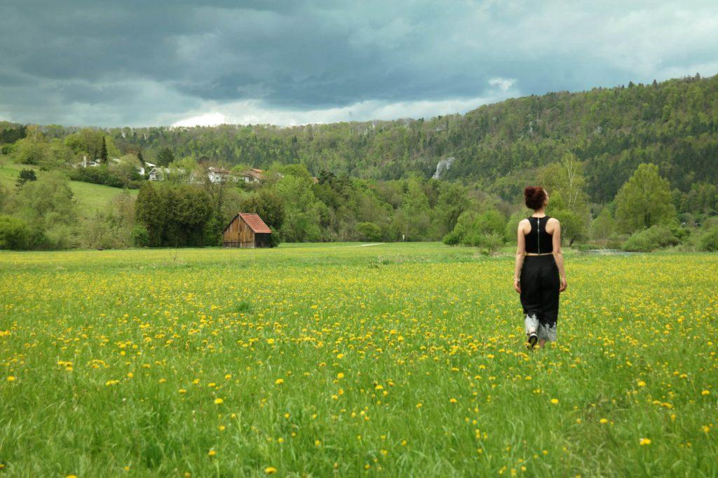 Fietsen door het Blautal naar de Blautopf in Duitsland