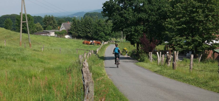 Grenzgängerroute fietsen net over de grens in Duitsland