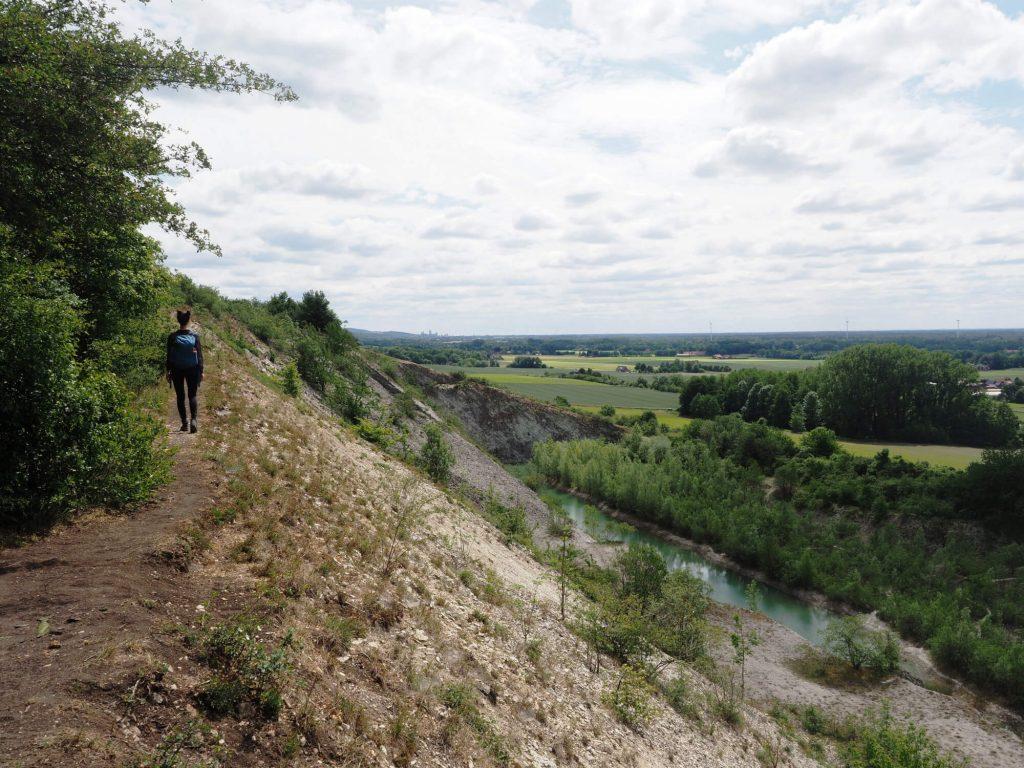 Wandelen bij Tecklenburg op de Teutoschleife Tecklenburger Bergpfad