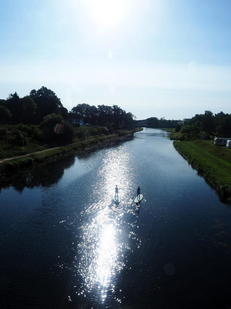 SUP op het kanaal in Osnabrück