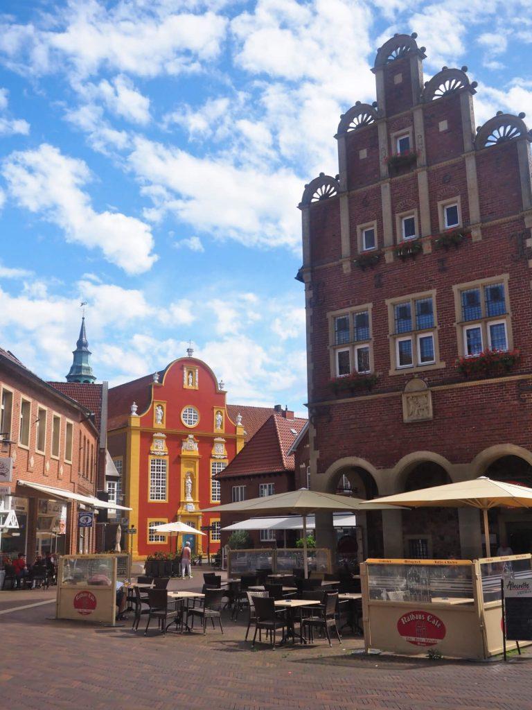 Historisch stadhuis in Meppen in Duitsland