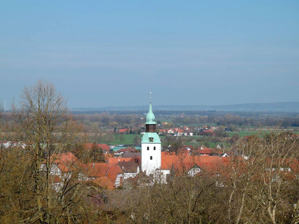 Uitzicht vanaf de Himmelsterasse op Bad Essen