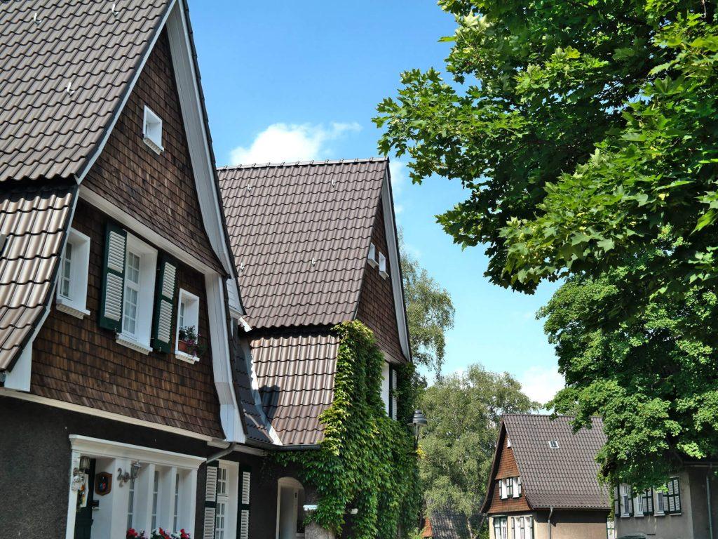 Groene wijk Margarethenhöhe Essen Duitsland