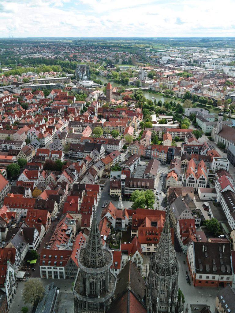 Uitzicht vanaf de Münster in Ulm