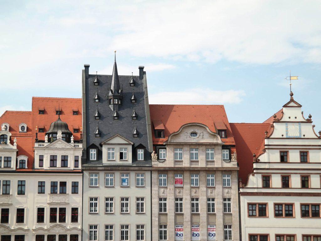 Gebouwen in het historisch centrum Leipzig