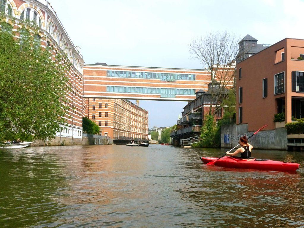 Kanoën in Leipzig bij het Baumgarnwerk