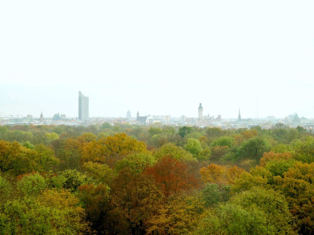 Uitzicht Wackelturm park Rosental Leipzig