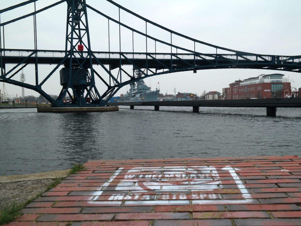 Fotospot in de haven van Wilhelmshaven