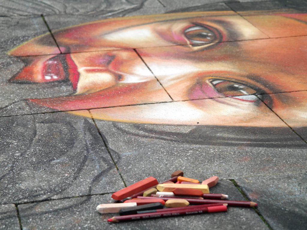 Street art festival in Wilhelmshaven Duitsland