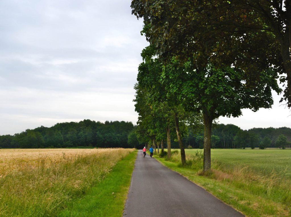 Fietsen in het Münsterland route 'Von Tor zu Tor' net over de grens in Duitsland