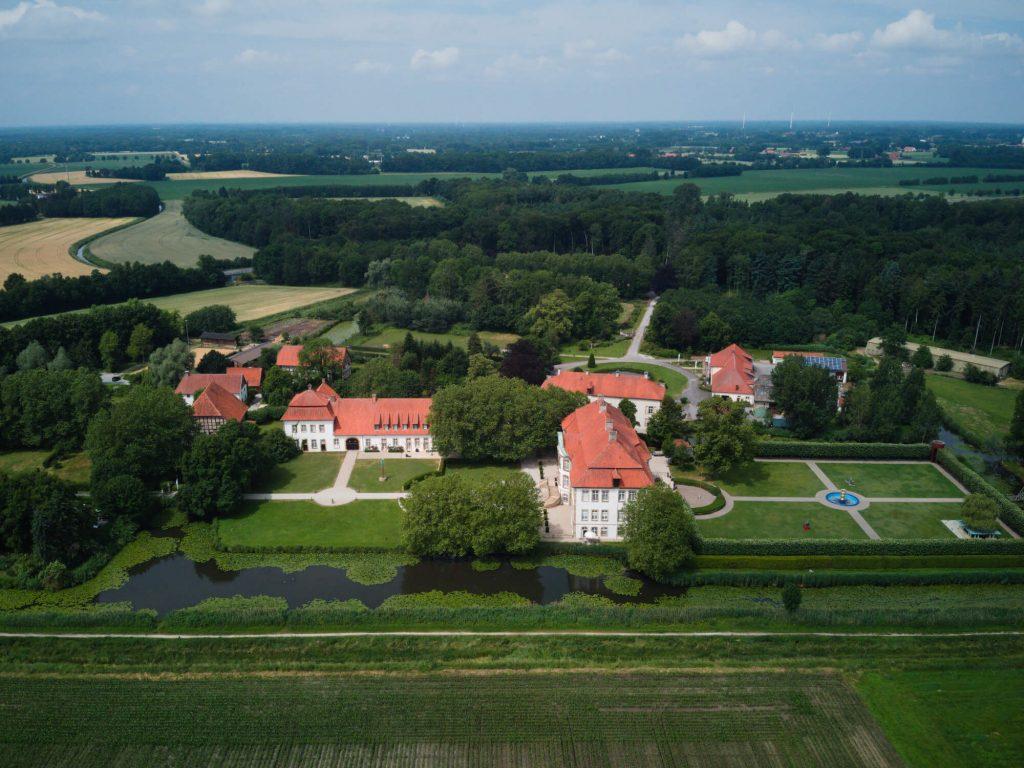 Kasteel Schloss Harkotten Münsterland net over de grens in Duitsland