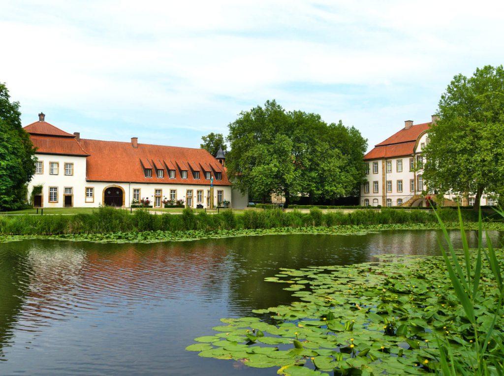 Kasteel Schloss Harkotten kasteel in het Münsterland Duitsland