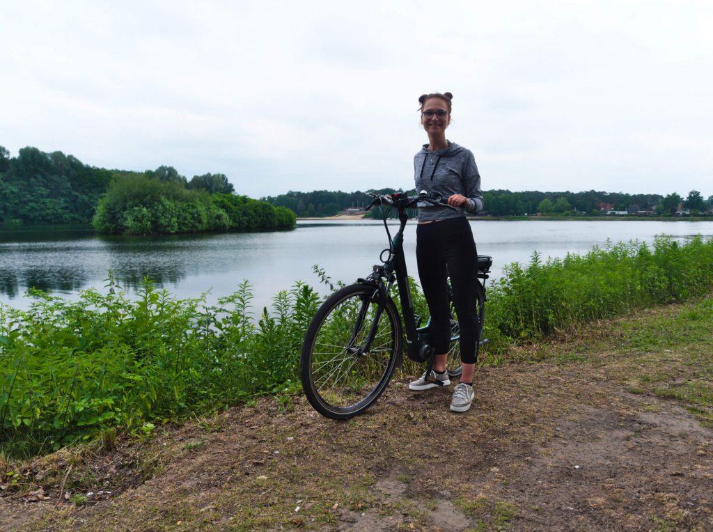Met de fiets bij Feldmarksee Sassenberg