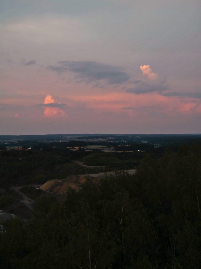 Piesberg Osnabrück zonsondergang