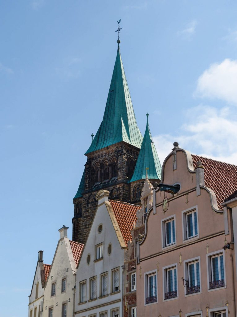 Warendorf marktplein en kerk