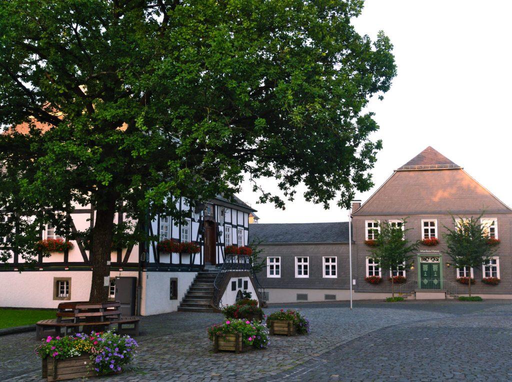 Eversberg mooi dorpje in Sauerland Duitsland