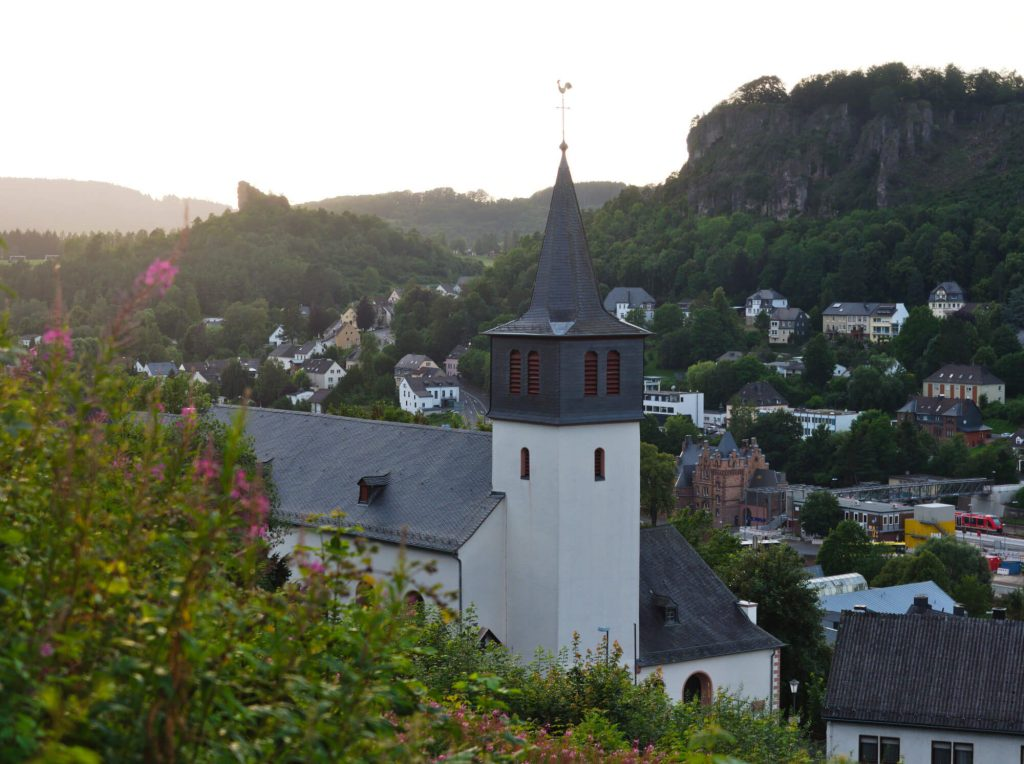 Uitzicht Gerolstein wandeling Keltenpfad