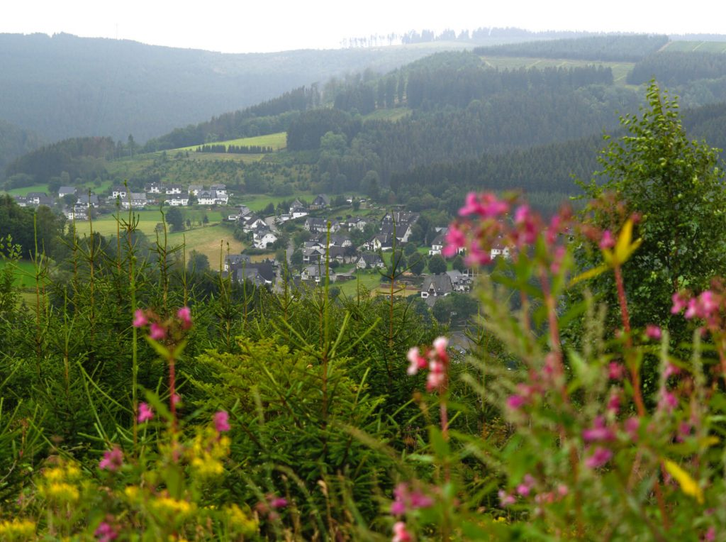 Uitzicht Westfeld wandelroute Schwedensteig Sauerland