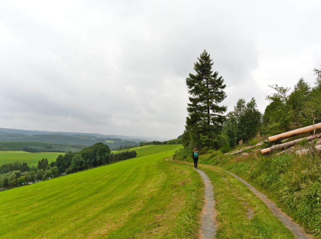 Uitzicht wandelroute Schwedensteig Sauerland